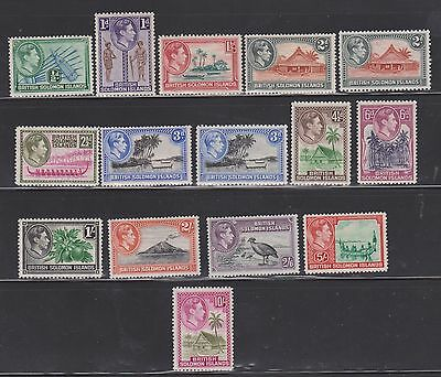 Solomon Islands 1938 Set Mounted Mint