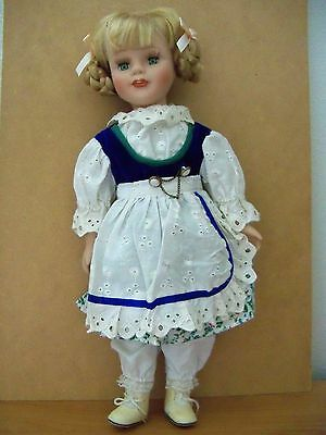 DOLL WITH BISQUE HEAD HANDS and FEET - FULLY DRESSED  16 INCHES