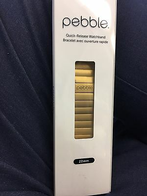 Pebble Time Steel - Gold Link Band WatchStrap (official)