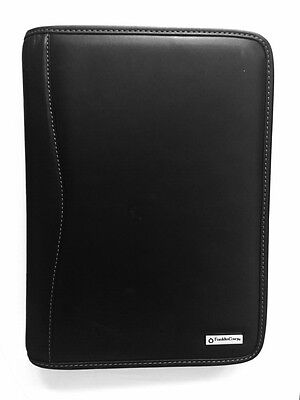 Franklin Covey Leather Day Planner Binder Organizer,black Zippered 7 Rings