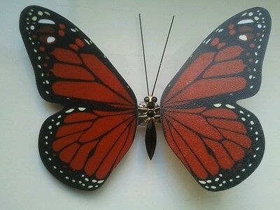ALEXANDER McQUEEN LTD EDITION RED BUTTERFLY MONARCH HAIRCLIP