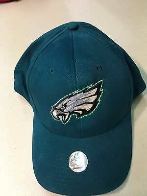 Vintage Philadelphia Eagles Green Fiber Optics Lightwear Nfl Hat Free Shipping