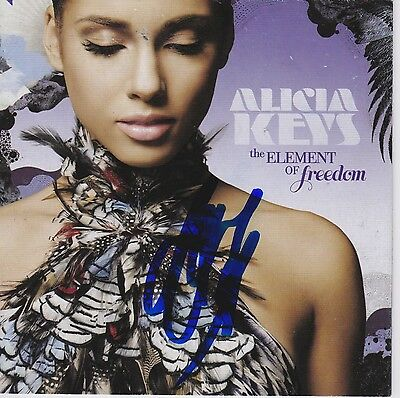 Alicia Keys signed The Element of Freedom cd