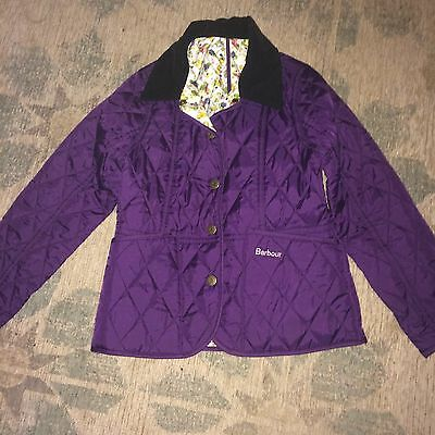 Girls Barbour Jacket Lidsdale Age 6-7 Excellent Condition ����