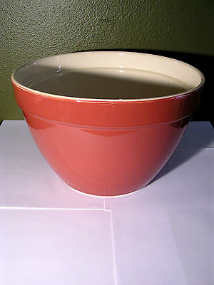 "Crate and Barrel Addison Red Brick Large Mixing Bowl 9.5"" x 6"" NICE"