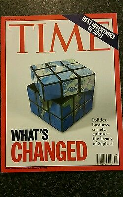 Time Magazine Vol 158 No 23 from 3rd December 2001