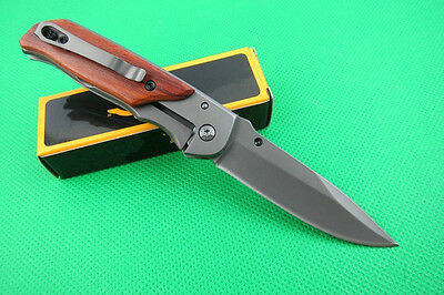 BRN Folding Pocket Clip Knife Fishing Camping Survival Rescue Saber Xmas Gift