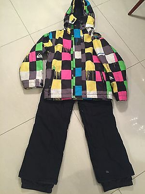 Boys Quicksilver Ski Jacket And Trousers Age 10