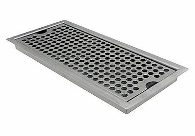 Kegco SEDP-220D Beer Drip Tray Stainless Steel Flush Mount Drip Tray w/ Drain