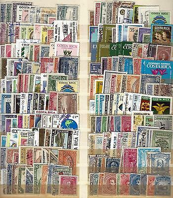 Costa Rica 200 Different Used Stamp Collection Lot#30