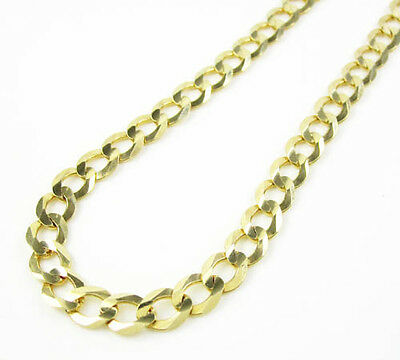24'' 5.7mm 10k Yellow Gold Miami Cuban Curb Link Chain Thick Necklace Mens 17.6g