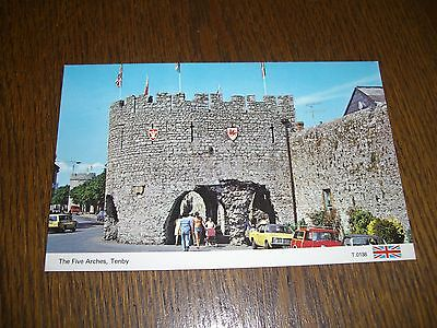 Vintage Postcard Tenby Wales Five Arches Real Photographic (RP)