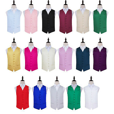New Solid Plain Satin Men's Wedding Waistcoat for Formal Occasions Multi Colors