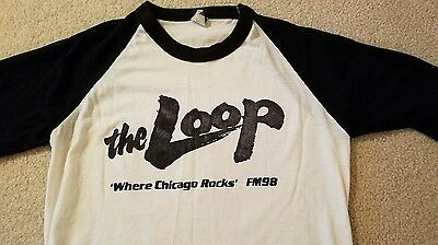 vintage eighties the Loop 'where Chicago rocks' FM 98 shirt