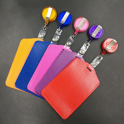 Bank Credit Card Holders PU Card ID Holders Identity Badge Retractable Reel to