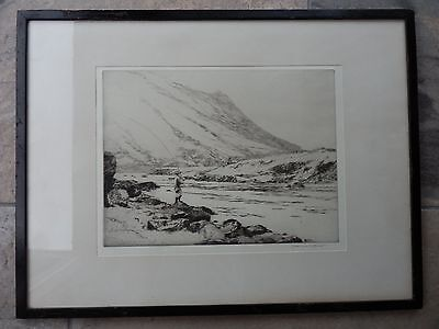 """Norman Wilkinson 1878-1971 Etching """"The Boothby Pool"""" Signed"""