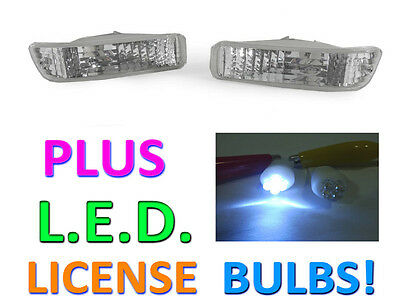 Depo 92-93 Acura Integra Clear Bumper Signal Lights + Led License Bulbs New