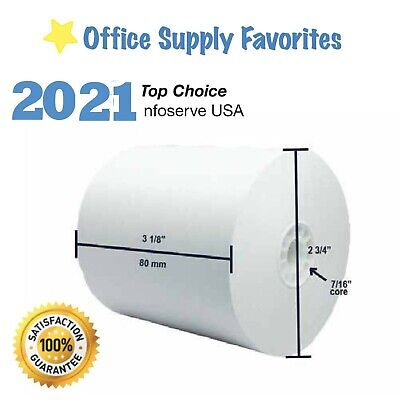 3 1/8'' (80mm) x 230' THERMAL POS RECEIPT PAPER ROLLS * SHIP SAME DAY (8 Roll)