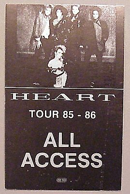 Heart backstage pass OTTO Laminated Tour '85-86 Black All Access