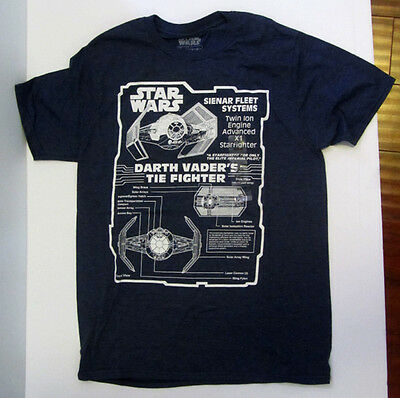Star Wars Darth Vader Tie Fighter Disney T-Shirt Men's M Brand New With Tags