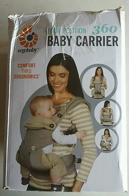 Ergobaby Four Position 360 Infant Child Baby Carrier Ergo Grey NEW (B68P36)
