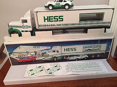Hess Truck 1992 With Racer Mint In Box With All Inserts NIB