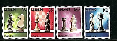 Malawi #510-513 (MA661) Complete 1988 Chess Pieces, MNH, FVF