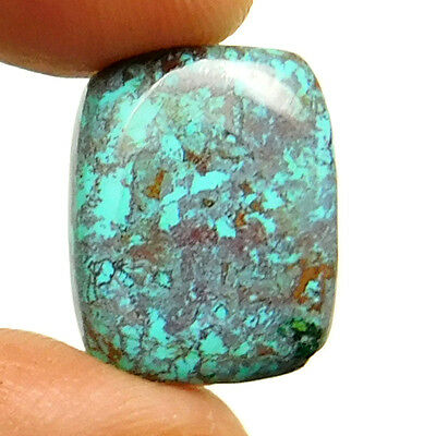 6.25 cts Natural Fine Azurite Gemstone Octagon Shape Loose Cabochon For Jewelry