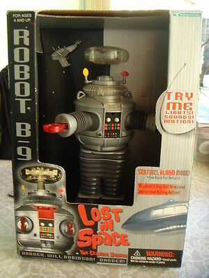 Vintage ROBOT B-9 FROM LOST IN SPACE boxed talking toy