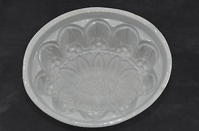"Oval Blancmange / Jelly Mould.  Ceramic. 4.5"" High  Victorian/early C20th"