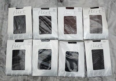 42 Pairs Of Winter Tights Black Brown Opaque Patterned - Wholesale Lingerie Lot