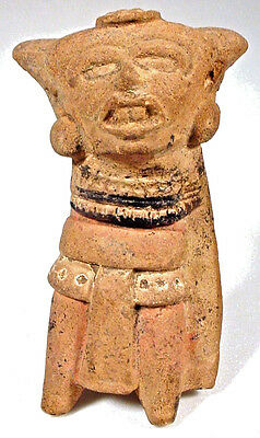 PRE-COLUMBIAN FIGURAL WHISTLE VERA CRUZ MEXICO w/COA