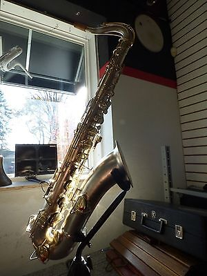 Vintage Conn New Wonder Series I Tenor Sax*Silver plated body Gold Plated Keys*