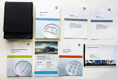 Oem 2011 Volkswagon Jetta Owners Manual Book Set, Leather Case + Free Shipping