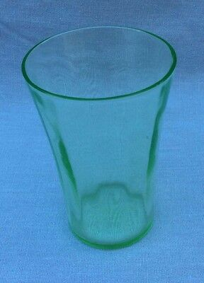 green depression juice glass