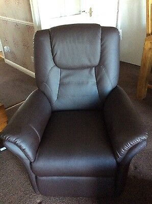 Electric Rise and Recliner Armchair in Faux Leather 1week old (Pick up Cornwall)