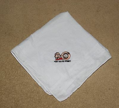 Southpark They Killed Kenny White Embroidered Handkerchief