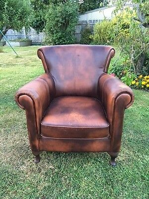 Vintage Leather Chair with attractive patina