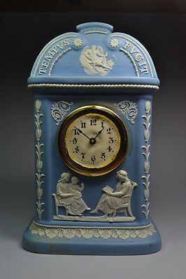 EARLY Antique Wedgwood 'Tempus Fugit' Clock, w/Original Dial and hands, ca. 1800