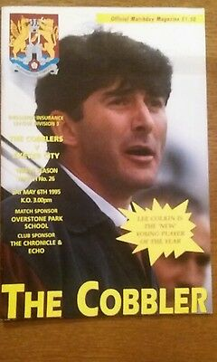 Northampton Town v Exeter City Programme 6th May 1995