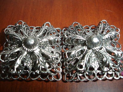 Silver finish Filagree Antique Belt Buckles from Zell Um Sea Austria