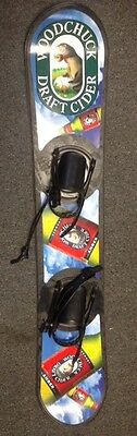Woodchuck Hard Cider Advertising Snowboard with Bindings