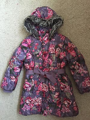 Monsoon Girls Lovely Winter Padded Coat with Belt Size 5-6 Years