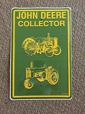 VINTAGE JOHN DEERE COLLECTOR METAL SIGN 18 x 12
