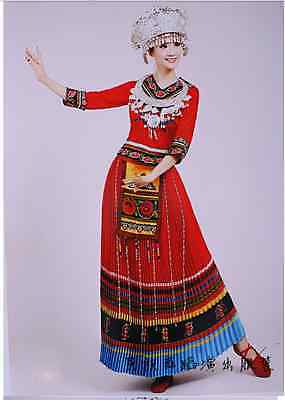 Hmong miao dress (long pink/red/or blue set)