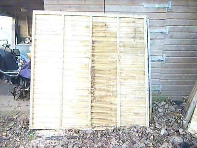 3 good quality fence panels  6 x 6 heavy duty 2 different types 1 new 2 used