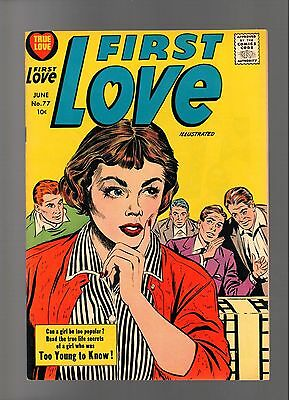 First Love Illustrated # 77    ( 1956 )    Harvey Pub.   Sharp Copy!