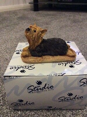 Border Fine Arts Yorkshire Terrier Lying **FREE UK POSTAGE**