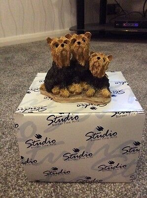Border Fine Arts Yorkshire Terriers **FREE UK POSTAGE**