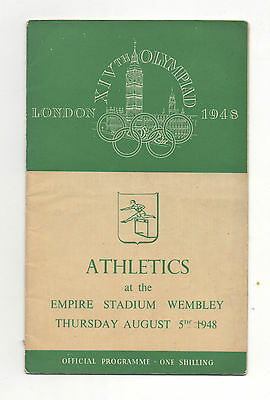 Orig.PRG   XIV.Olympic Games LONDON 1948 // ATHLETICS 05.08. / 2 Final`s !! RARE